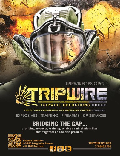 Tripwire Operations Group is our preferred vendor for Explosives Products & Training